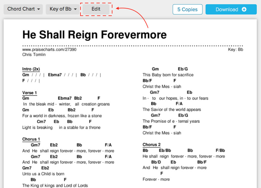 Now You Can Edit Chord Charts In Two Ways - Take Your Pick ...