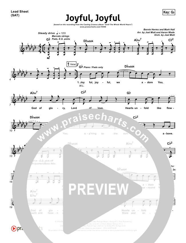 Joyful Joyful Orchestration (with Vocals) (Casting Crowns)