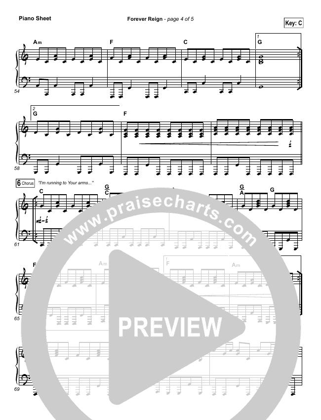 Forever Reign Orchestration Hillsong Worship Praisecharts