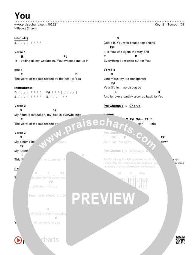 You Chords & Lyrics (Hillsong Worship)