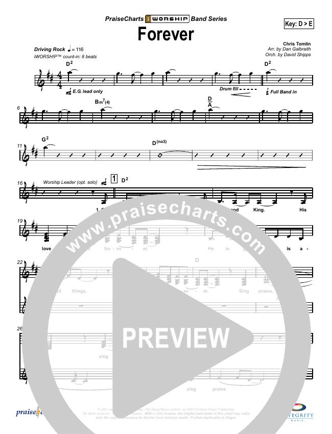 Forever Lead Sheet (SAT) (Chris Tomlin)