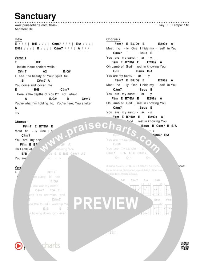 Sanctuary Chords & Lyrics (Ashmont Hill)
