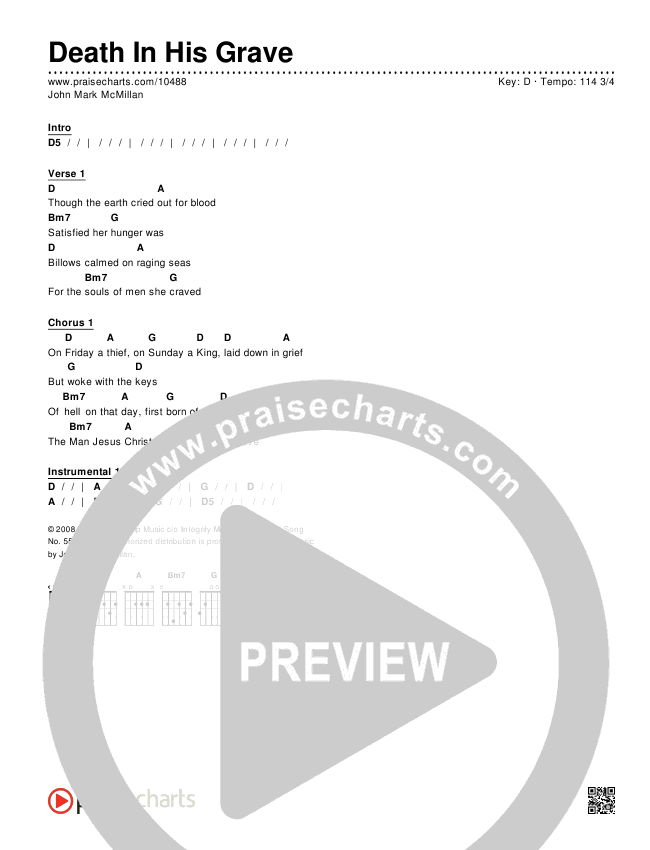 Death In His Grave Chords & Lyrics (John Mark McMillan)