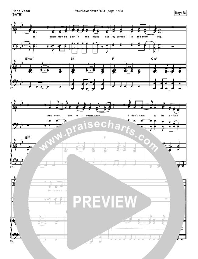 your love never fails sheet music - Kope.impulsar.co