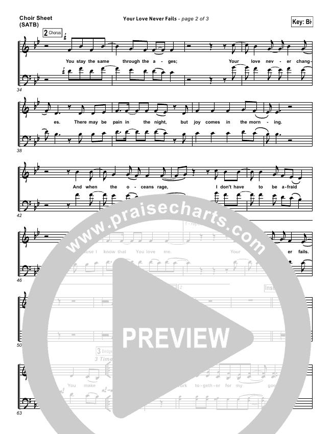 Your Love Never Fails Choir Sheet (SATB) (Jesus Culture)