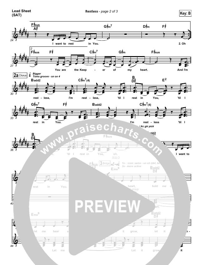 Restless Lead & Piano/Vocal (Audrey Assad)