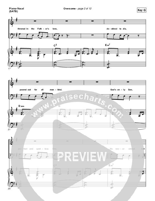 Overcome Piano/Vocal (SATB) (Jeremy Camp)