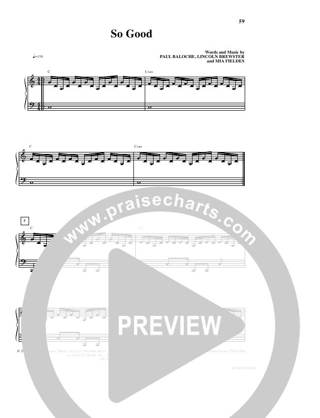 So Good Lead & Piano/Vocal (Lincoln Brewster)