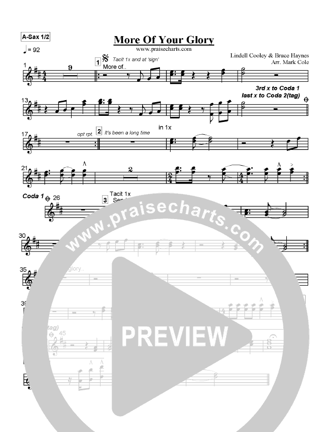 More Of Your Glory Orchestration (Lindell Cooley)