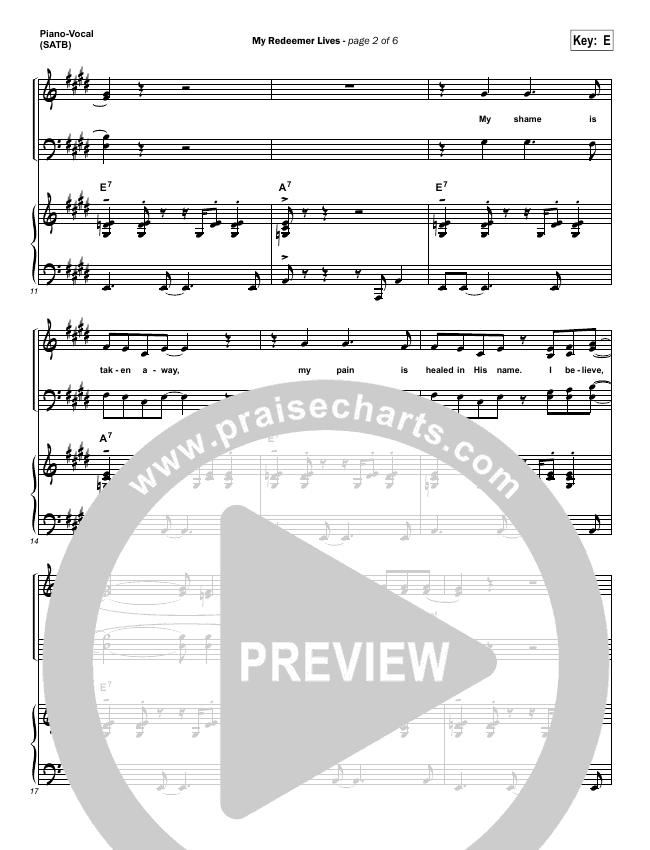 My Redeemer Lives Piano/Vocal (SATB) (Hillsong Worship)
