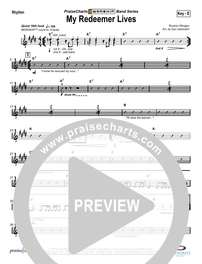 My Redeemer Lives Orchestration Hillsong Worship Praisecharts