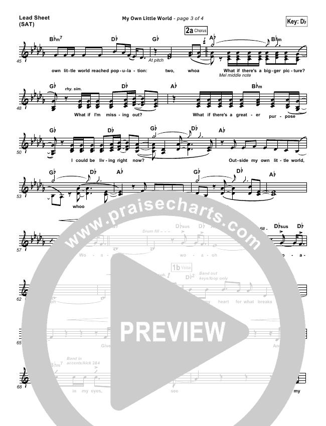 My Own Little World Orchestration & Finale (Matthew West)