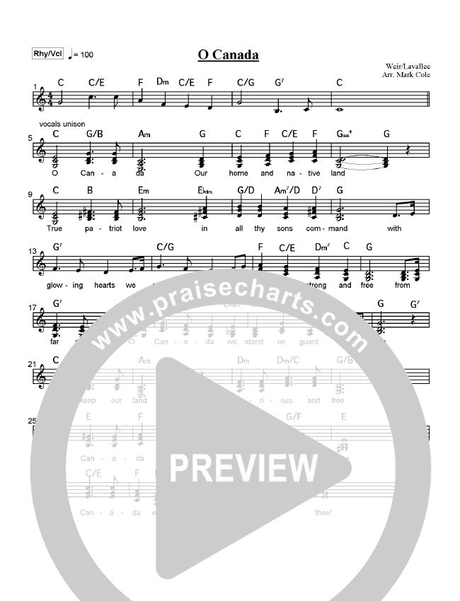O Canada Orchestration (Mark Cole)