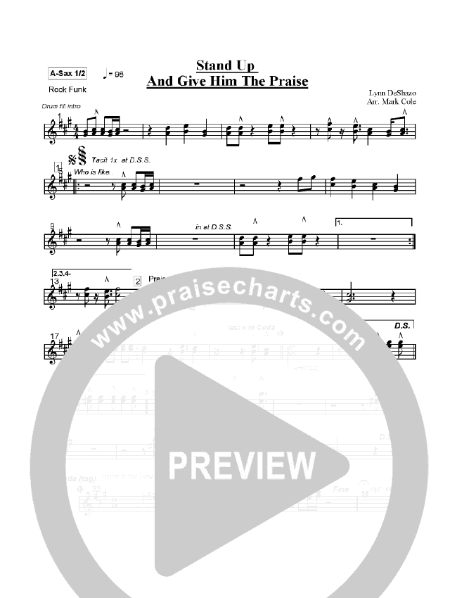 Stand Up and Give Him the Praise Orchestration (Lynn DeShazo)