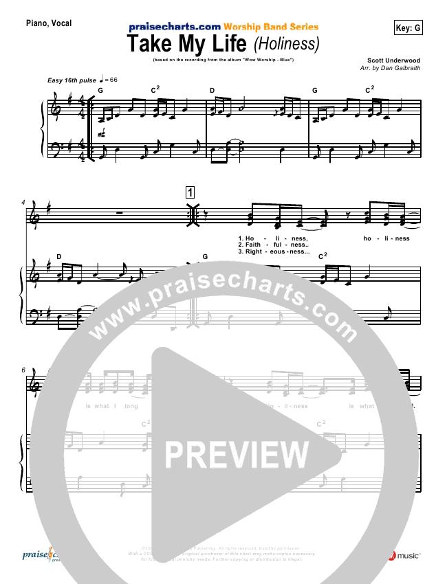 Take My Life Orchestration (with Vocals) (Scott Underwood)