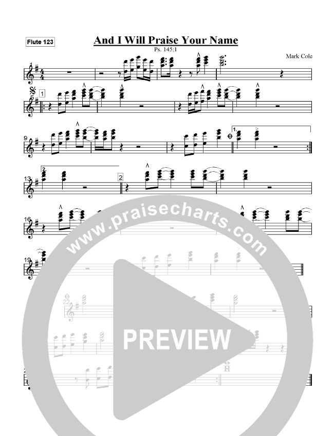 And I Will Praise Your Name Orchestration (Mark Cole)