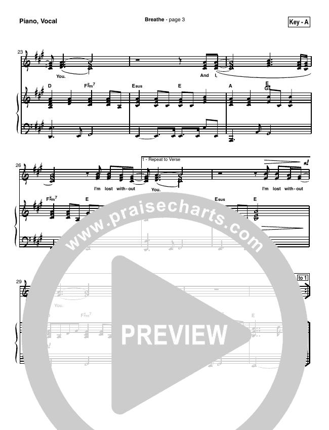 Breathe / Yearn Piano/Vocal (SATB) (Marie Barnett)