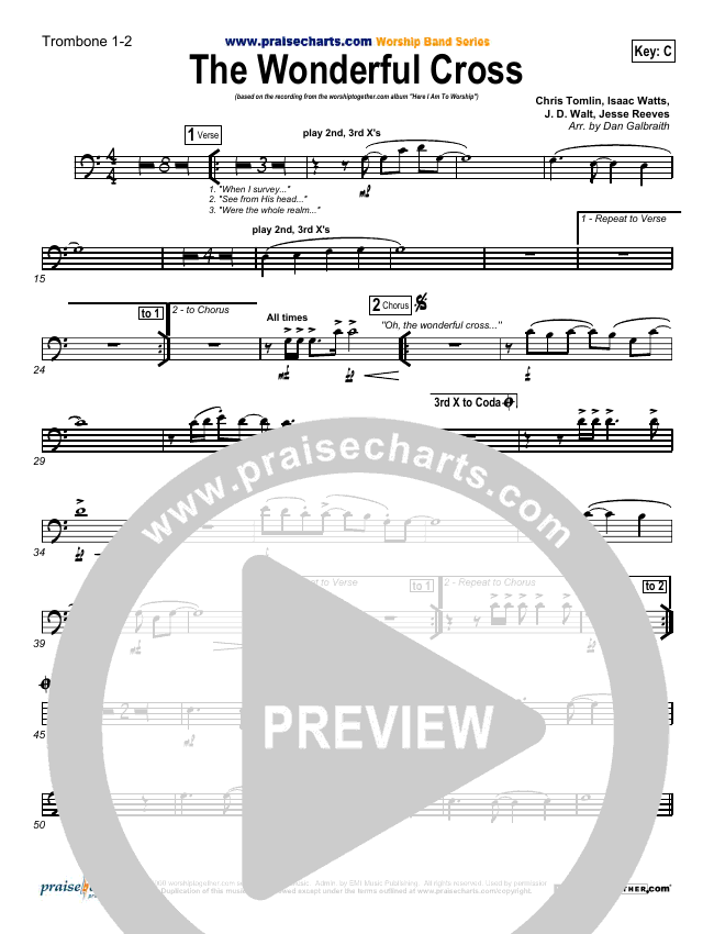 The Wonderful Cross Brass Pack (Chris Tomlin)