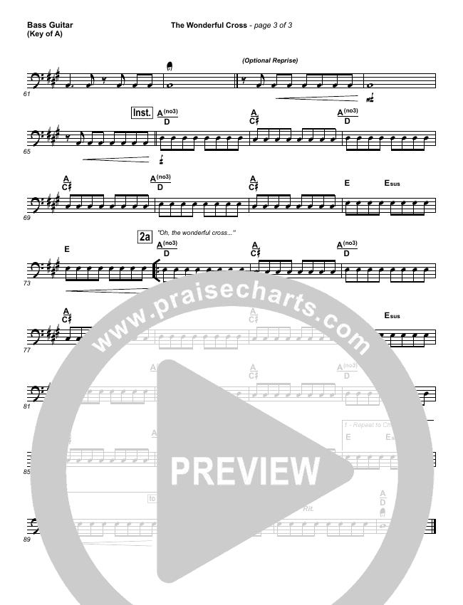 The Wonderful Cross Bass Guitar (Chris Tomlin)