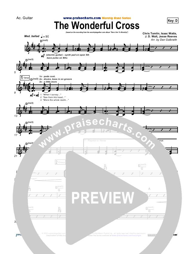 The Wonderful Cross Rhythm Chart (Chris Tomlin)