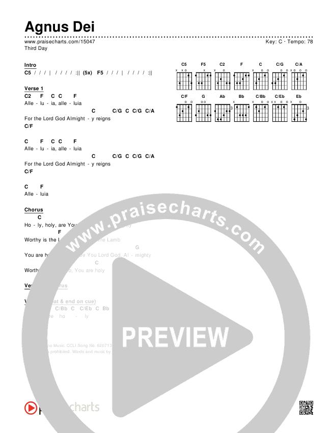 Agnus Dei Chords & Lyrics (Third Day)