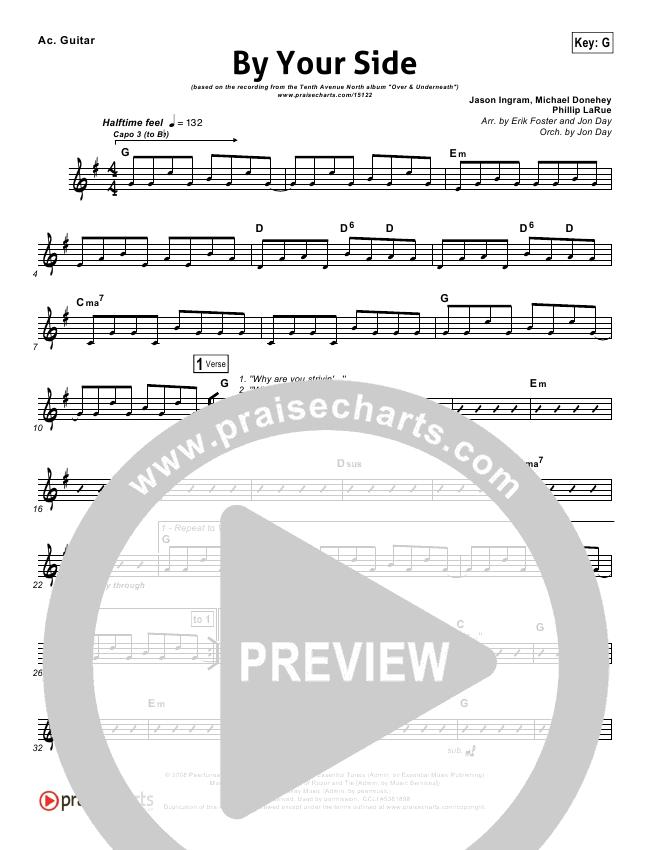 By Your Side Rhythm Chart Tenth Avenue North Praisecharts
