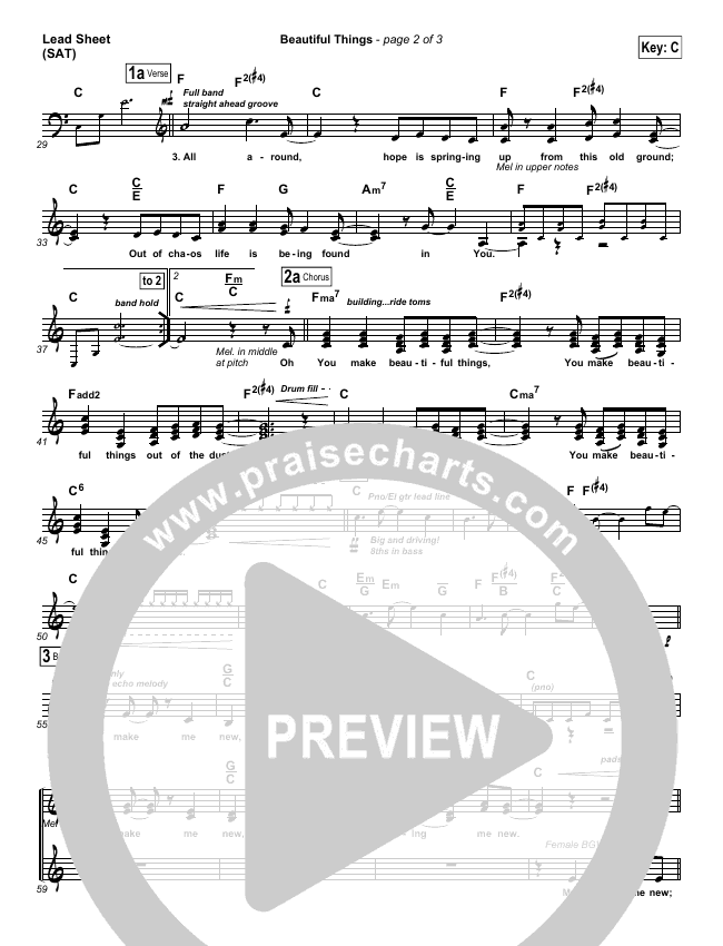 Beautiful Things Piano/Vocal Pack (Michael Gungor)
