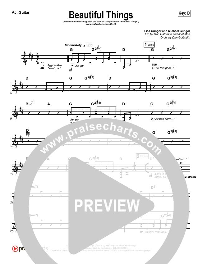 Beautiful Things Rhythm Chart Michael Gungor Praisecharts