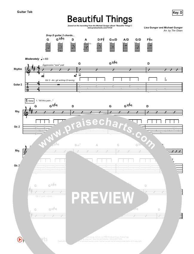 Beautiful Things Guitar Tab - Michael Gungor | PraiseCharts
