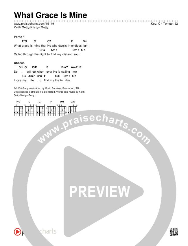 What Grace Is Mine Chords & Lyrics (Keith & Kristyn Getty)