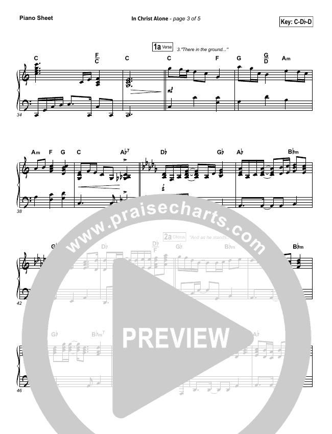 In Christ Alone Piano Sheet (Keith & Kristyn Getty)
