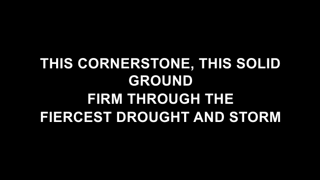 In Christ Alone Lyric Slides (Keith & Kristyn Getty)