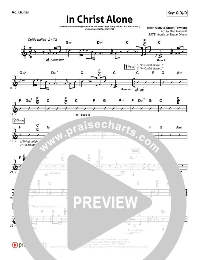 In Christ Alone Rhythm Chart - Keith Getty, Kristyn Getty | PraiseCharts