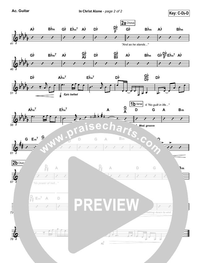 In Christ Alone Rhythm Chart (Keith & Kristyn Getty)