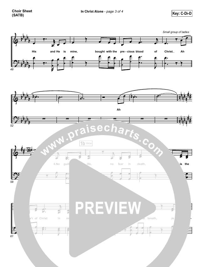 In Christ Alone Choir Sheet (SATB) (Keith & Kristyn Getty)