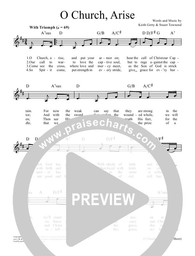 O Church Arise Lead & Piano/Vocal (Keith & Kristyn Getty)