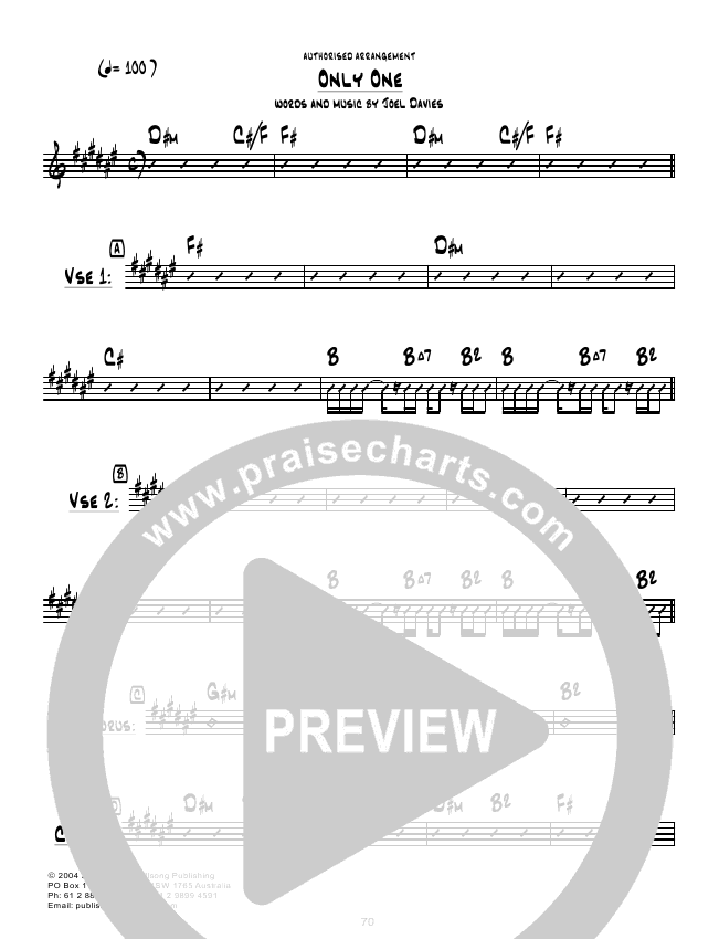 Only One Chords Hillsong United Praisecharts
