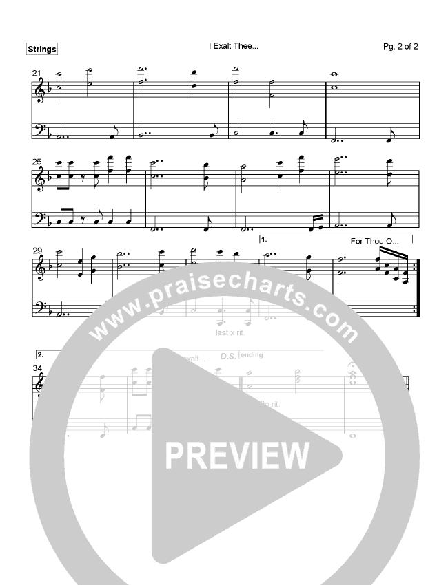 I Exalt Thee Orchestration (Pete Sanchez)