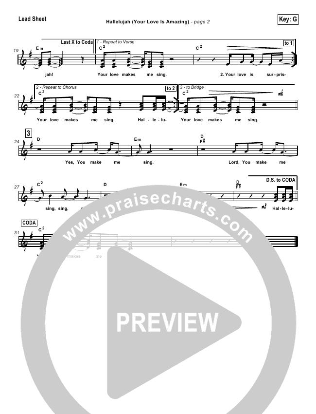 Hallelujah (Your Love Is Amazing) Lead & Piano/Vocal (Brian Doerksen)