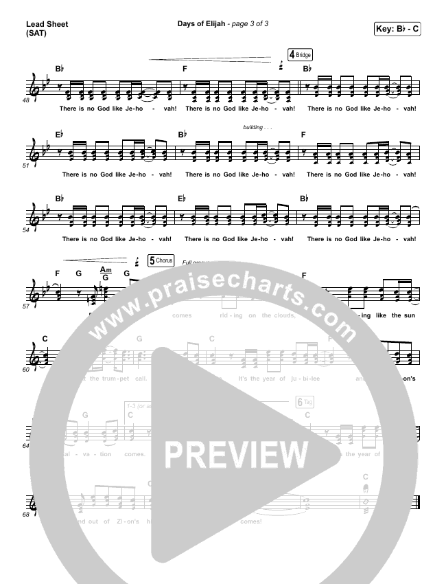 Days of Elijah Lead & Piano/Vocal (Robin Mark)