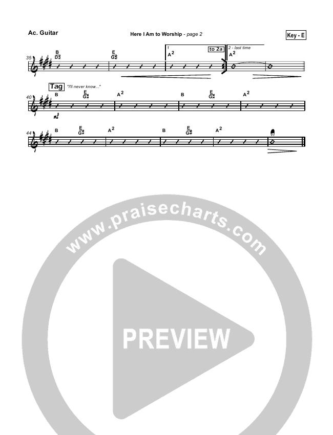 Here I Am To Worship Rhythm Chart (Chris Tomlin / Passion)