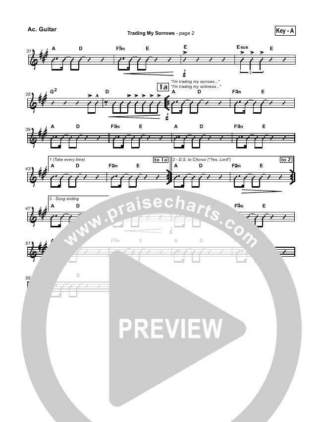 Trading My Sorrows Rhythm Chart Darrell Evans Praisecharts