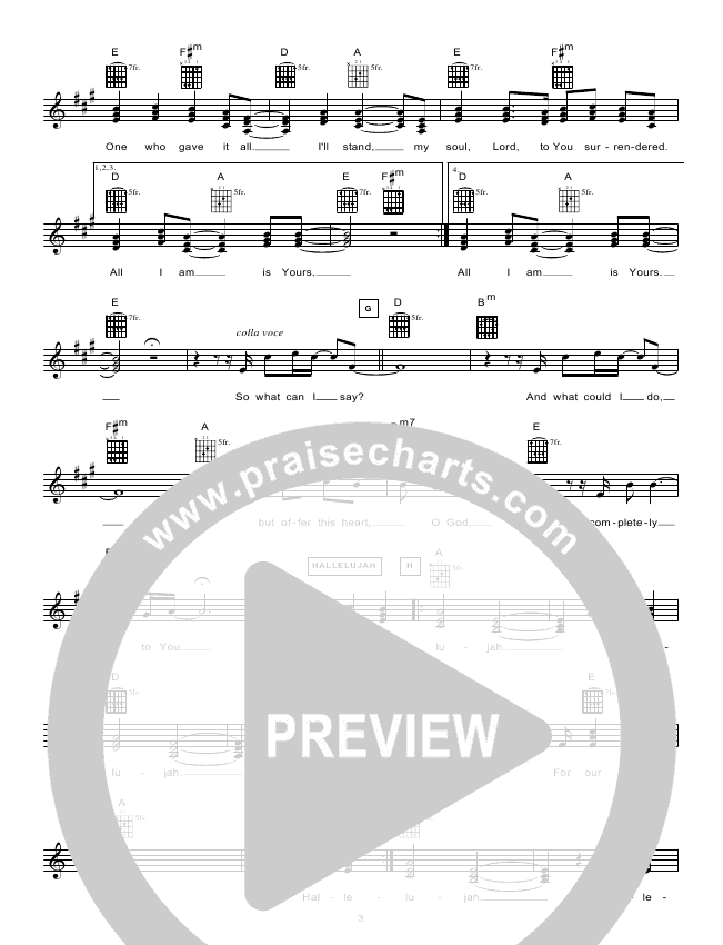 The Stand Lead Sheet (Hillsong Worship)