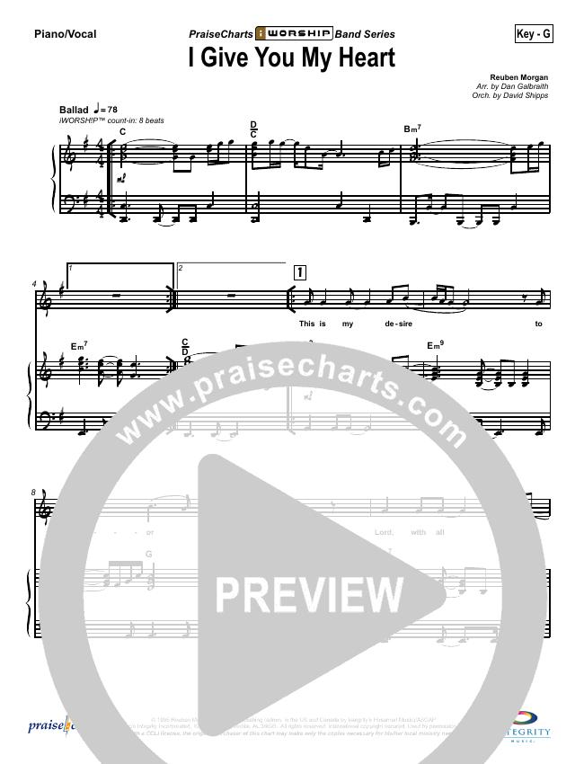 I Give You My Heart Piano/Vocal (SATB) (Hillsong Worship)