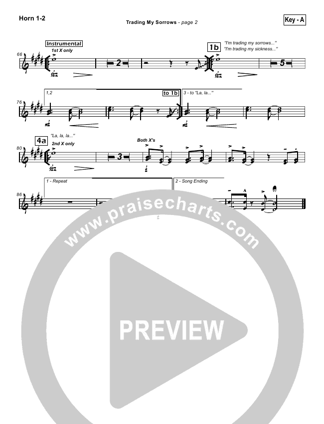Trading My Sorrows Orchestration Darrell Evans Praisecharts