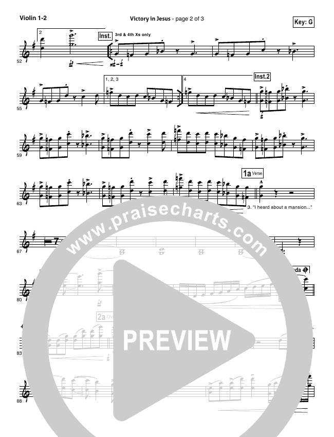 Victory In Jesus Orchestration Travis Cottrell Praisecharts