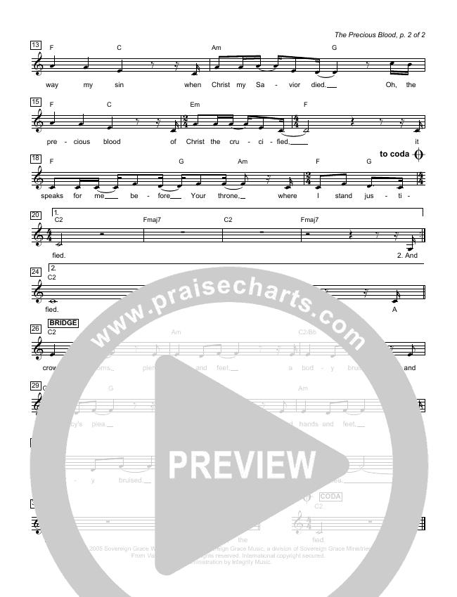 The Heart Of Worship Lead Sheet (Matt Redman)