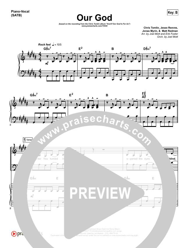 Our God  Piano/Vocal (SATB) (Chris Tomlin)