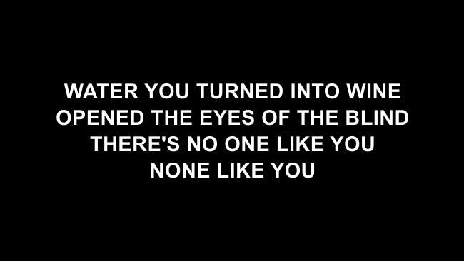 Our God  Lyric Slides (Chris Tomlin)