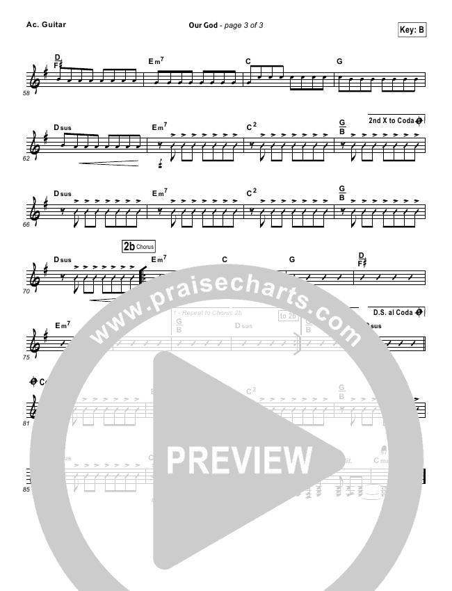 Our God  Rhythm Chart (Chris Tomlin)